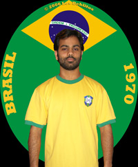 Brazil 1970 Home Jersey by Umbro