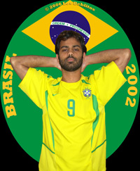 Brazil 2002 Home Jersey by Nike