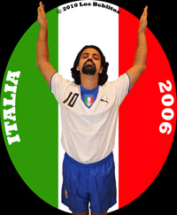 Italy 2006 Away Jersey with Home Shorts (Away Kit Alternate) by Puma