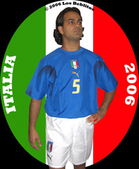 Italy 2006 Home Jersey with Away Shorts (Home Kit Alternate) by Puma