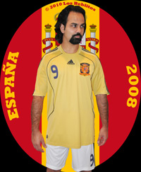 Spain 2008 Away Jersey with Home Shorts (Away Kit Alternate) by Adidas