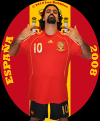 Spain 2008 Home Jersey with Home Shorts (Home Kit) by Adidas
